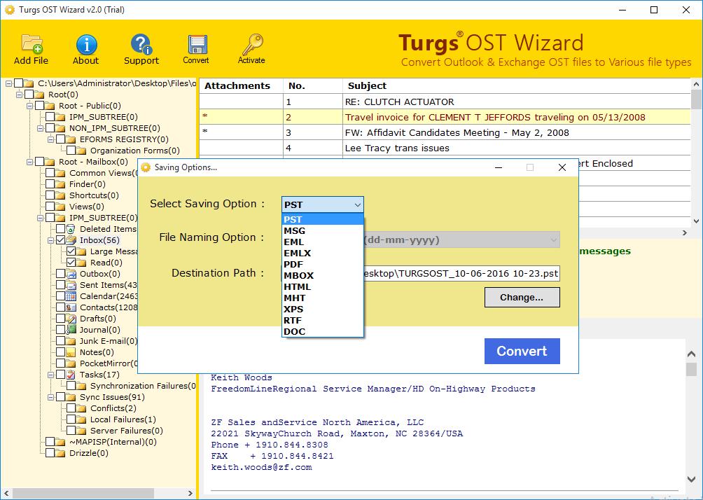 Windows 7 Convert OST to PST 4.0 full